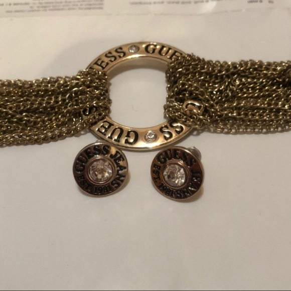 Authentic GUESS bracelet and earrings SET.